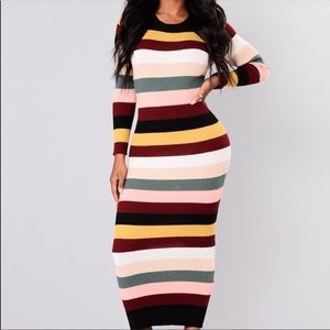 Tickle me striped stretchy maxi large xl